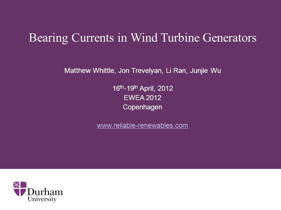 Bearing Currents in Wind Turbine Generators