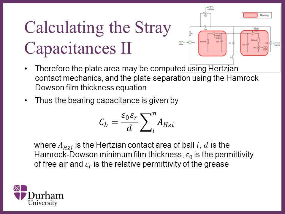 Calculating the Stray Capacitances II