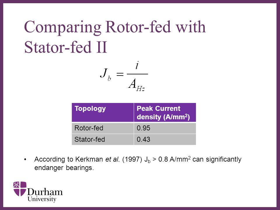 Comparing Rotor-fed with Stator-fed II
