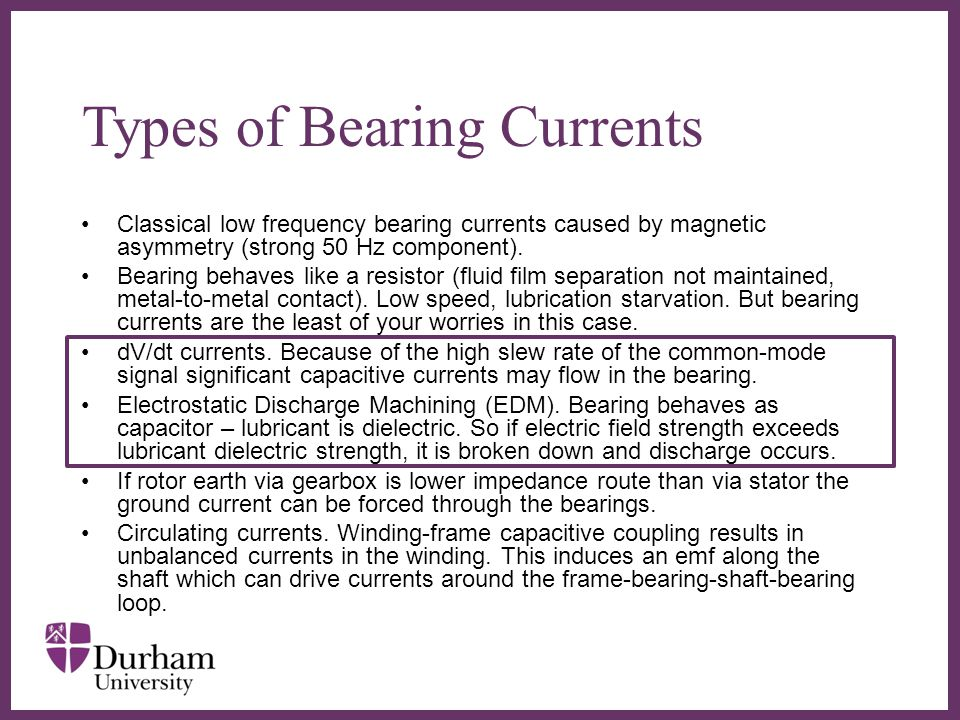 Types of Bearing Currents