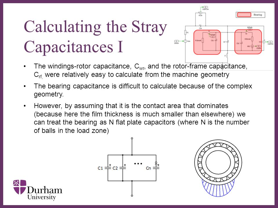 Calculating the Stray Capacitances I