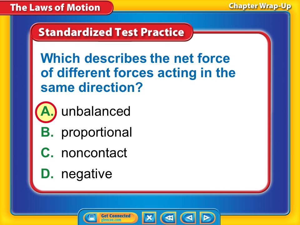 Which describes the net force of different forces acting in the same direction
