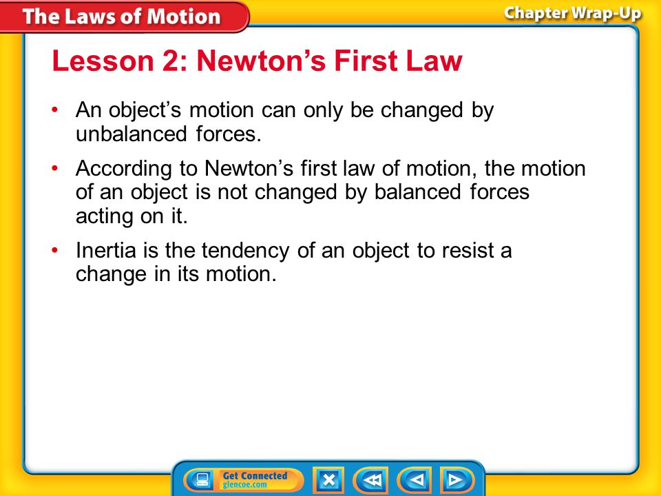 Lesson 2: Newton's First Law