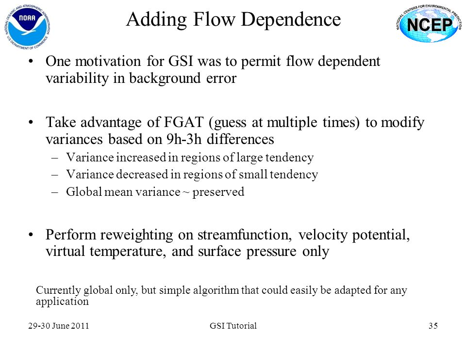 Adding Flow Dependence