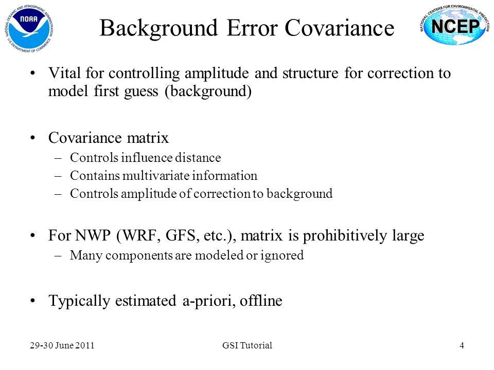 Background Error Covariance