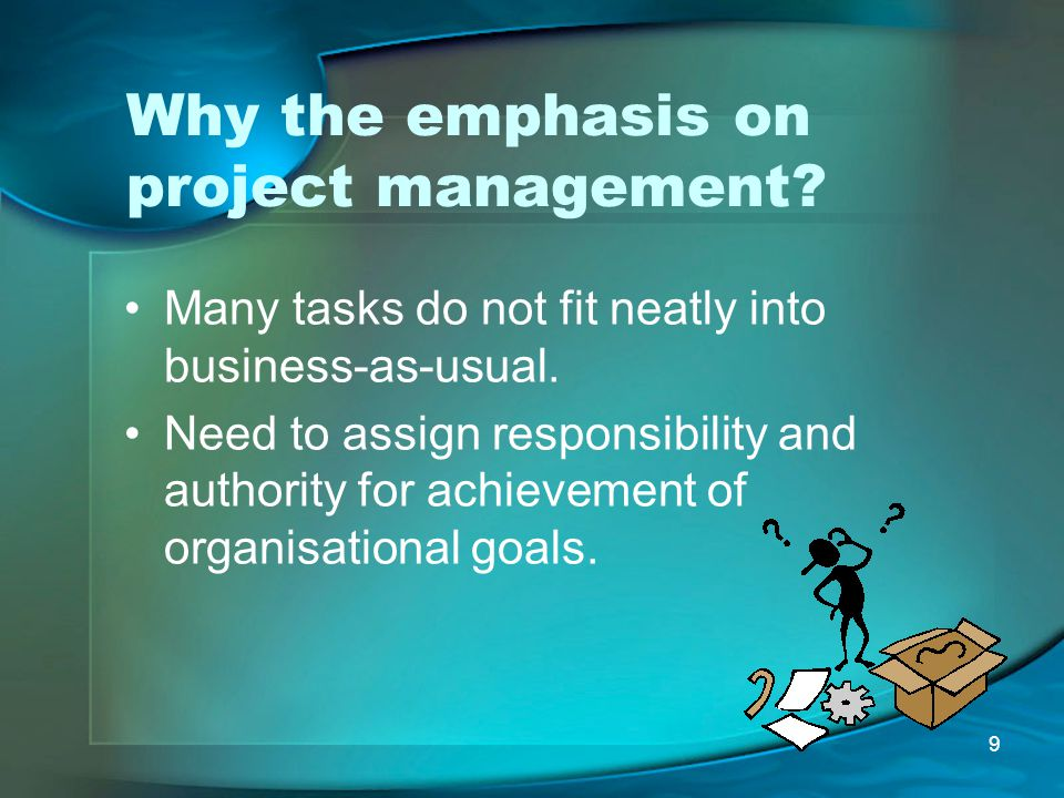 Why the emphasis on project management