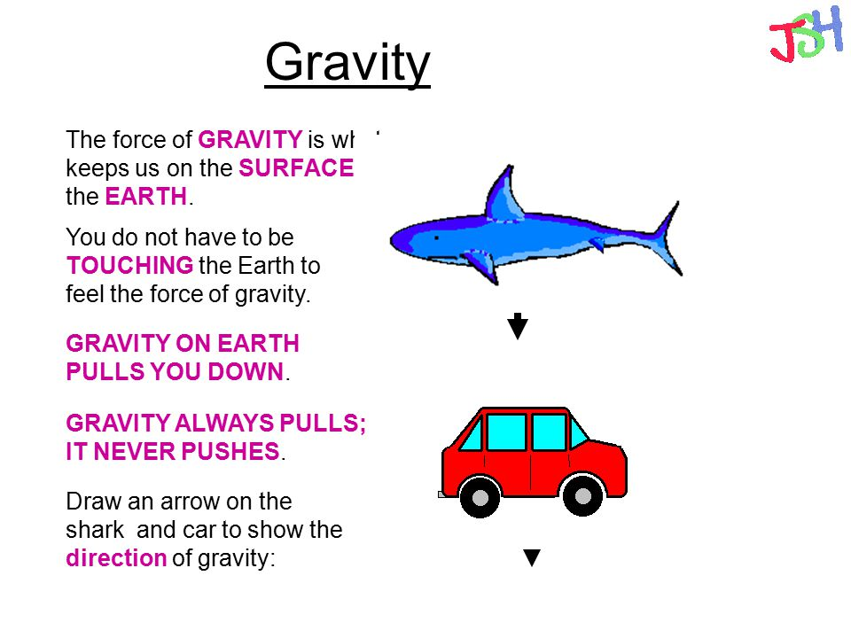 Gravity The force of GRAVITY is what keeps us on the SURFACE of the EARTH. You do not have to be TOUCHING the Earth to feel the force of gravity.