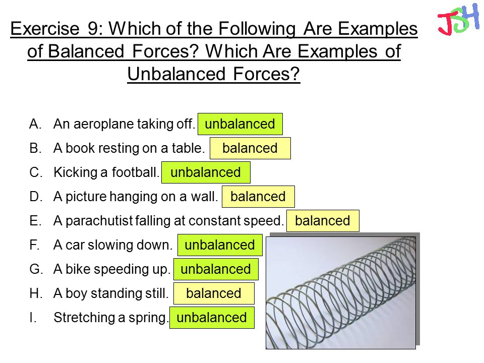 10 Examples Of Balanced And Unbalanced Forces 11412421