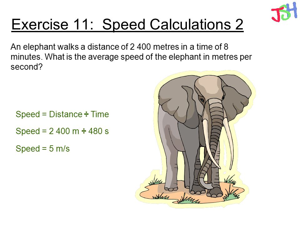 Exercise 11: Speed Calculations 2