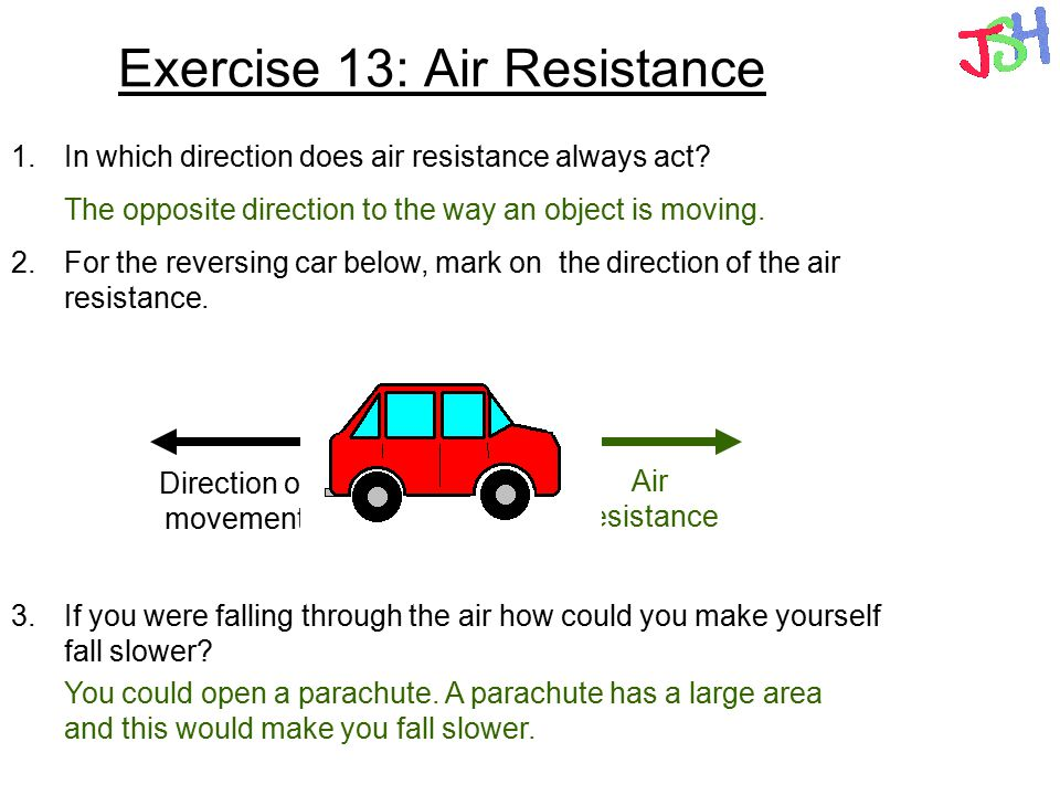 Exercise 13: Air Resistance