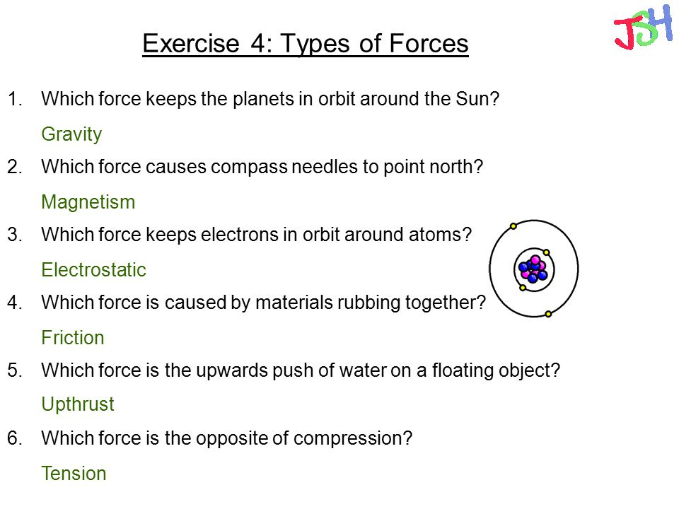 Exercise 4: Types of Forces