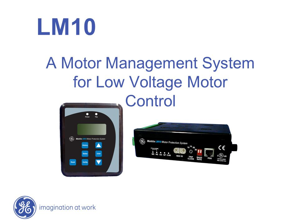 A Motor Management System for Low Voltage Motor Control