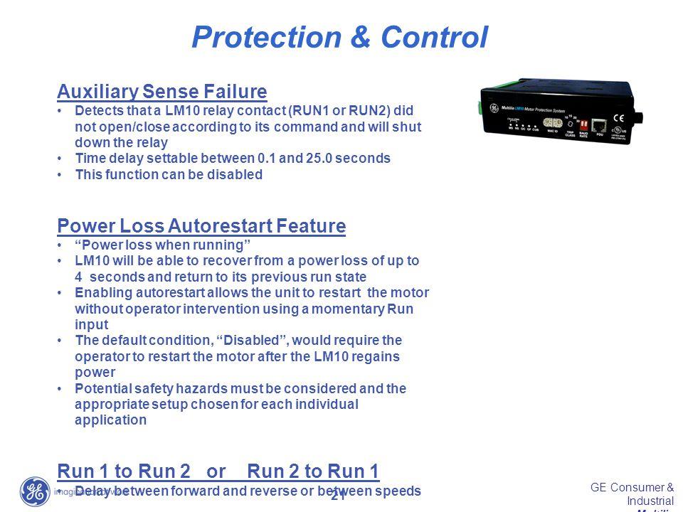Protection & Control Auxiliary Sense Failure