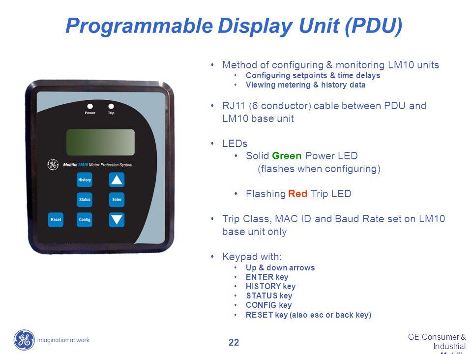 Programmable Display Unit (PDU)
