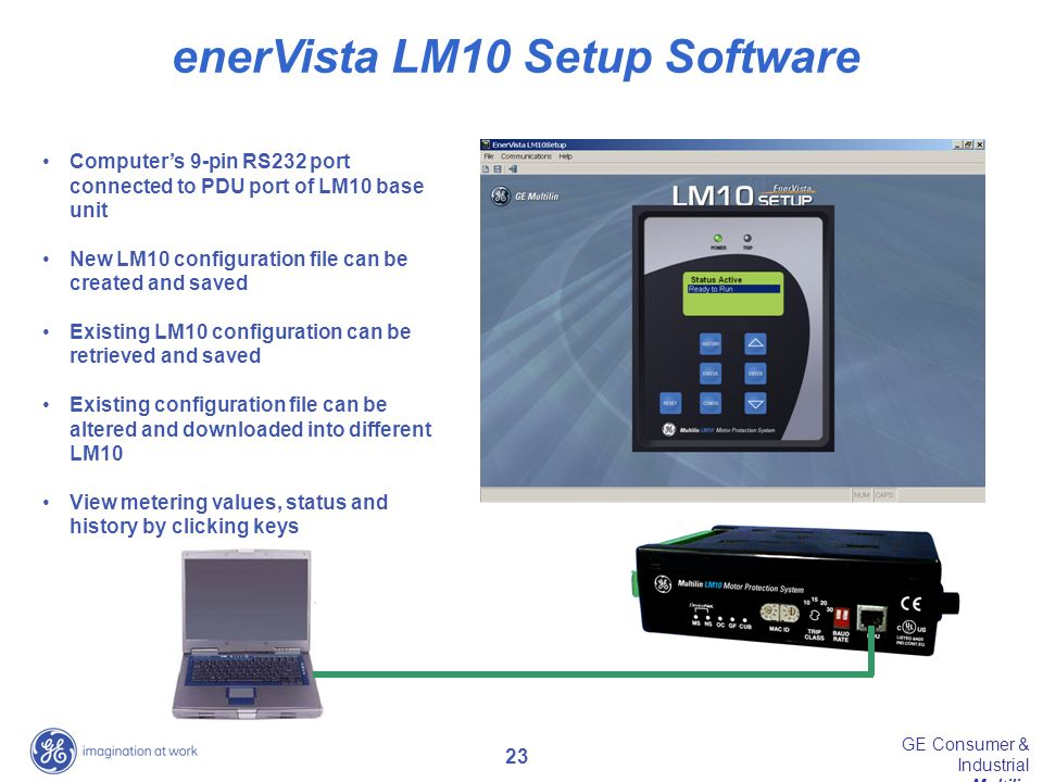 enerVista LM10 Setup Software