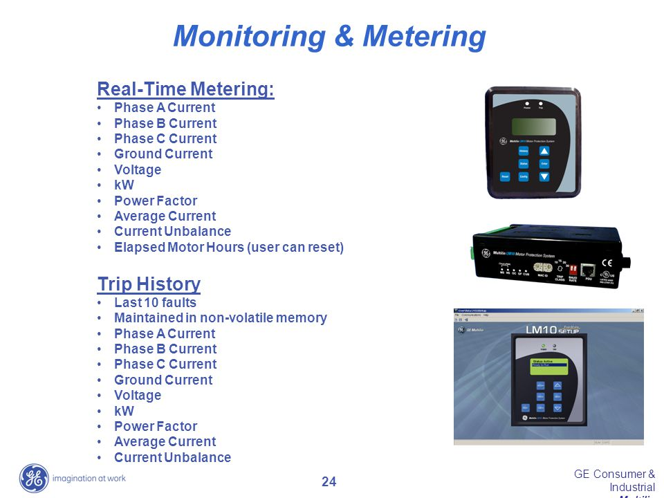 Monitoring & Metering Real-Time Metering: Trip History Phase A Current