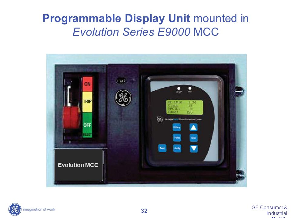 Programmable Display Unit mounted in
