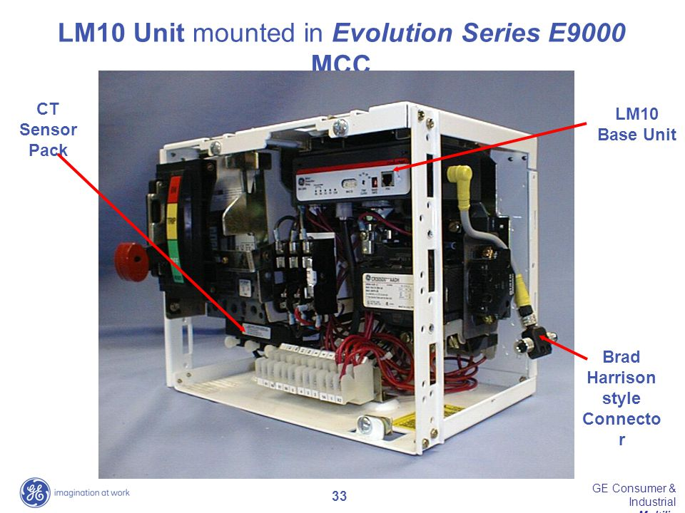 LM10 Unit mounted in Evolution Series E9000 MCC
