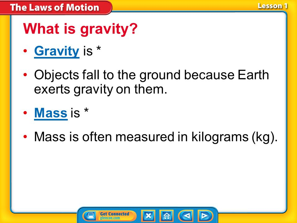 What is gravity Gravity is *