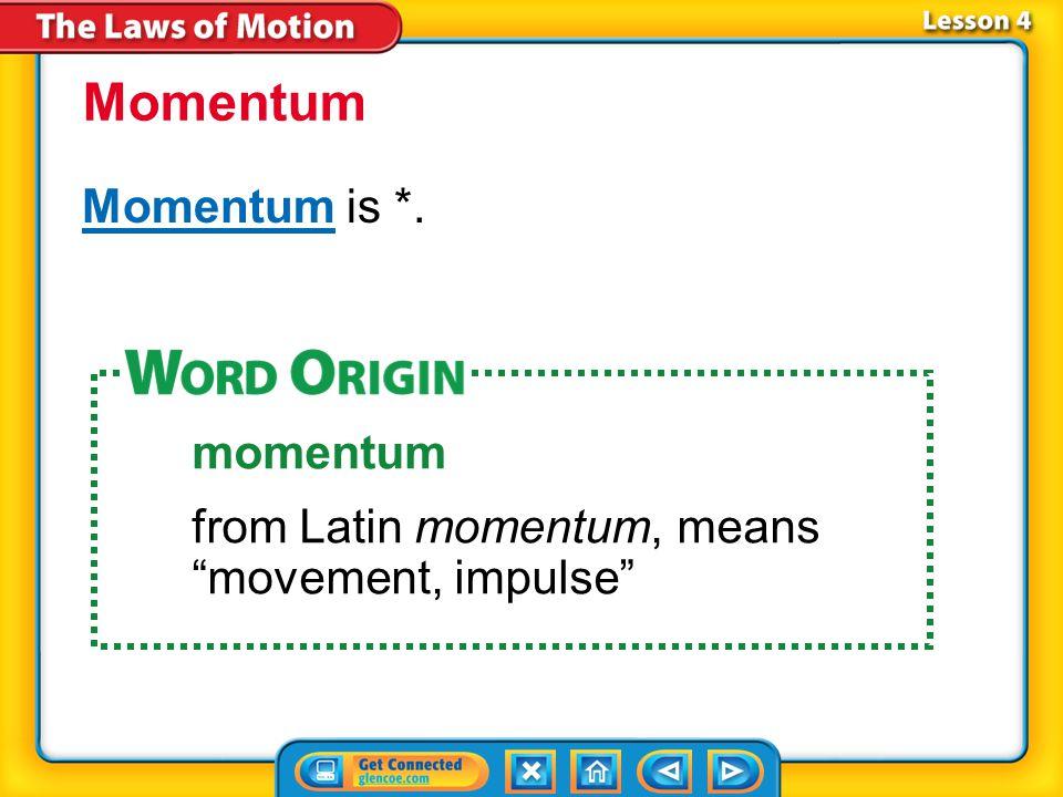 Momentum Momentum is *. momentum
