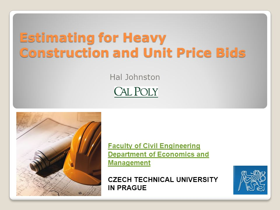Estimating for Heavy Construction and Unit Price Bids