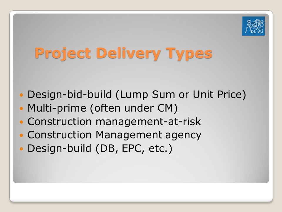 Project Delivery Types