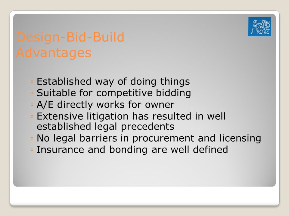 Design-Bid-Build Advantages