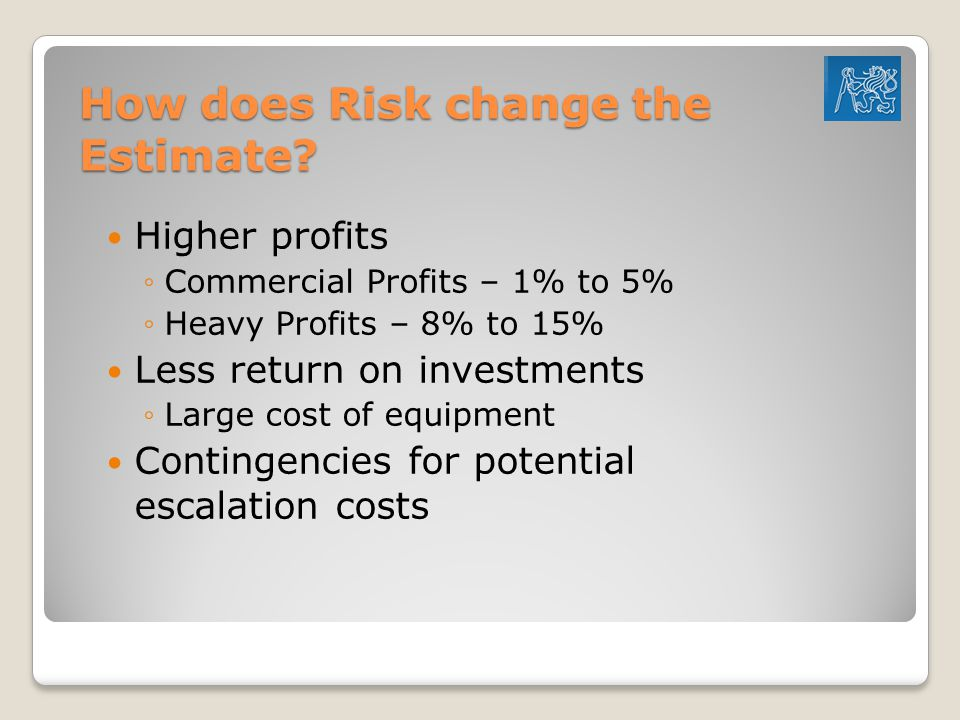 How does Risk change the Estimate