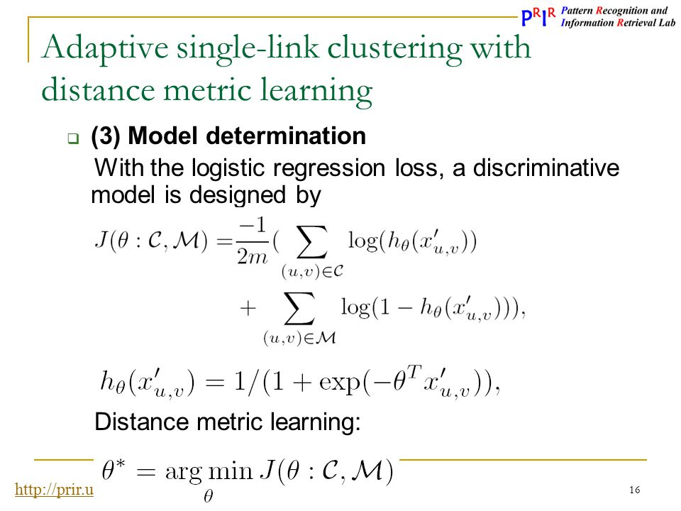 Adaptive single-link clustering with distance metric learning