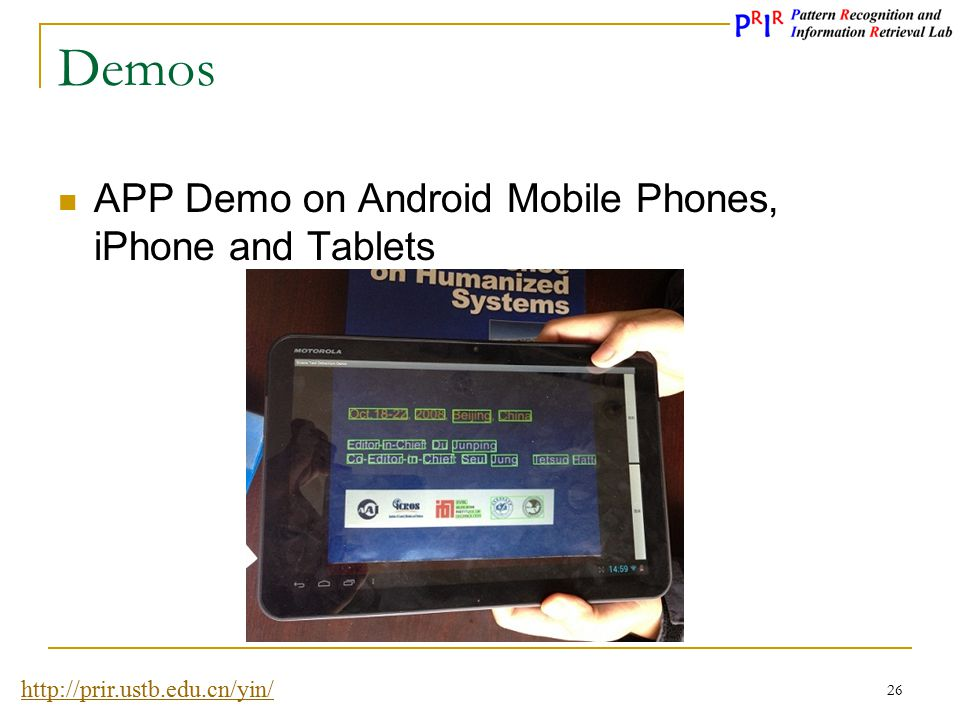 Demos APP Demo on Android Mobile Phones, iPhone and Tablets