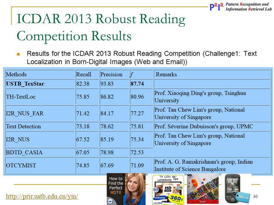 ICDAR 2013 Robust Reading Competition Results