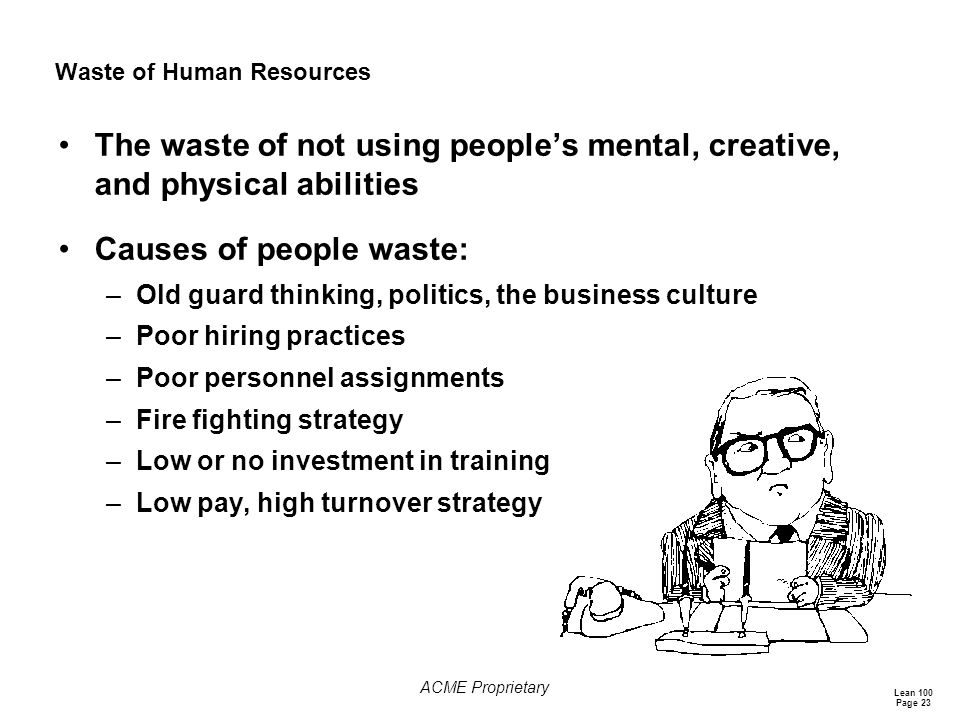 Waste of Human Resources