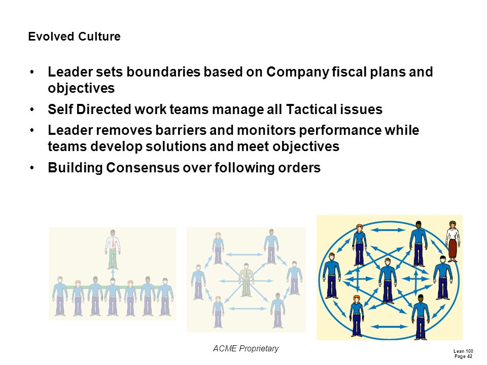 Leader sets boundaries based on Company fiscal plans and objectives