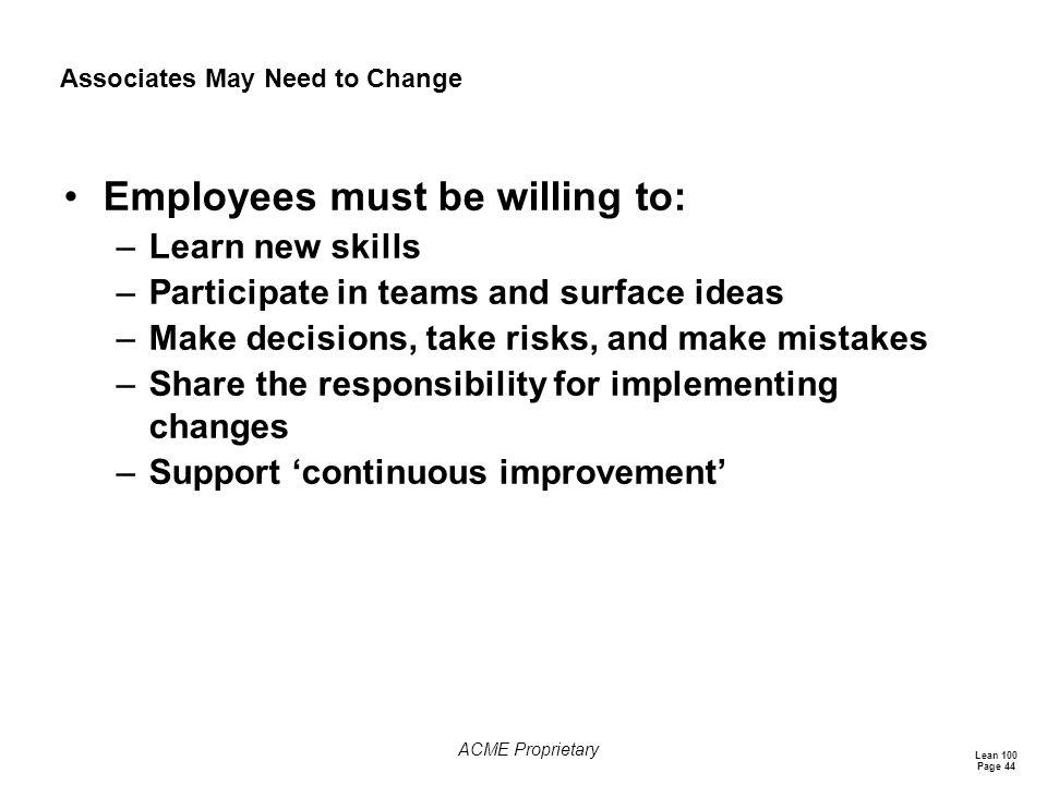 Associates May Need to Change