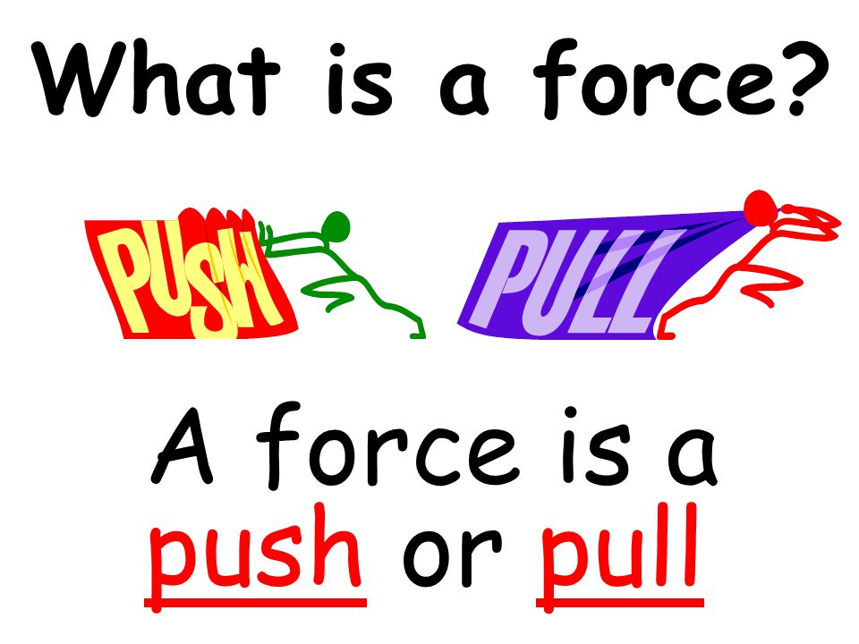 What is a force A force is a push or pull