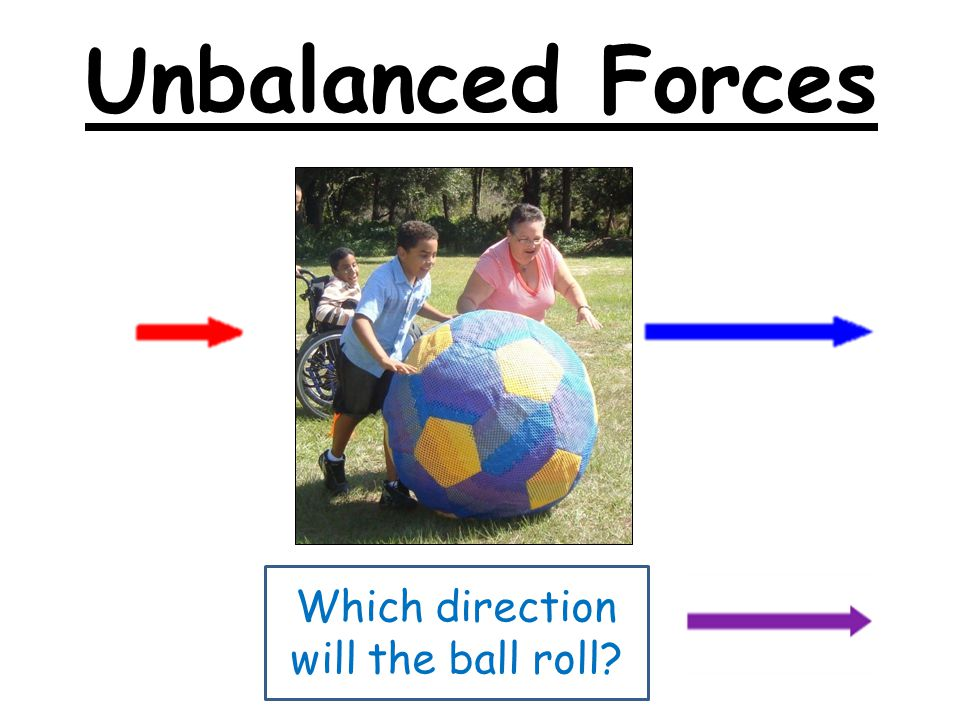 Which direction will the ball roll