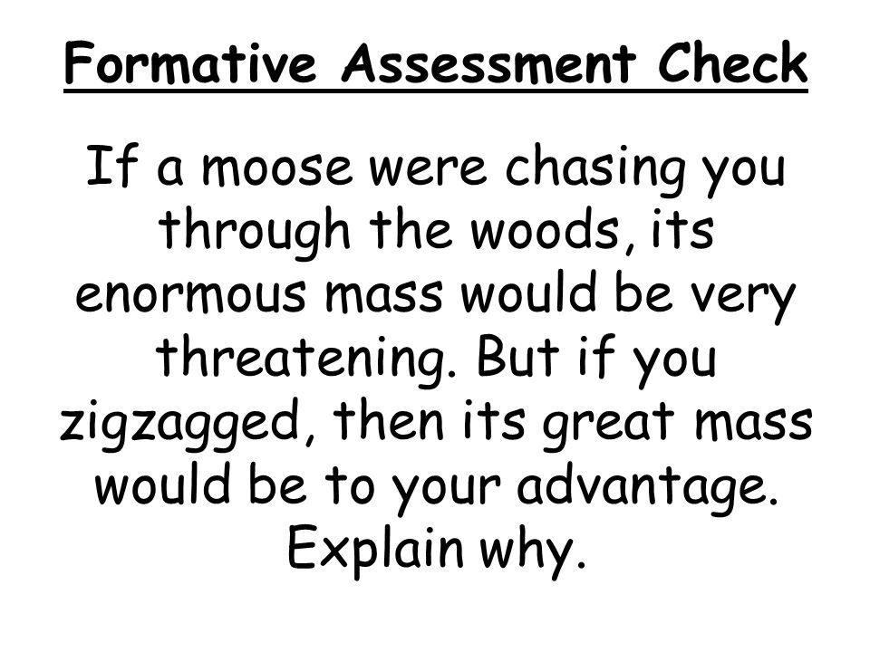 Formative Assessment Check
