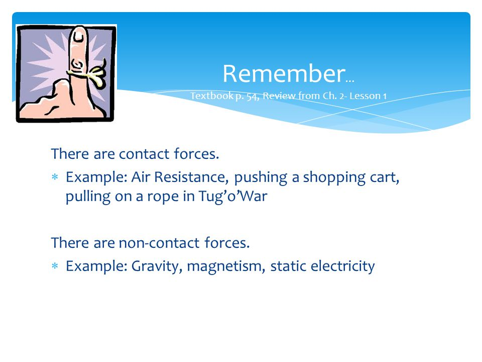 Remember… Textbook p. 54, Review from Ch. 2- Lesson 1