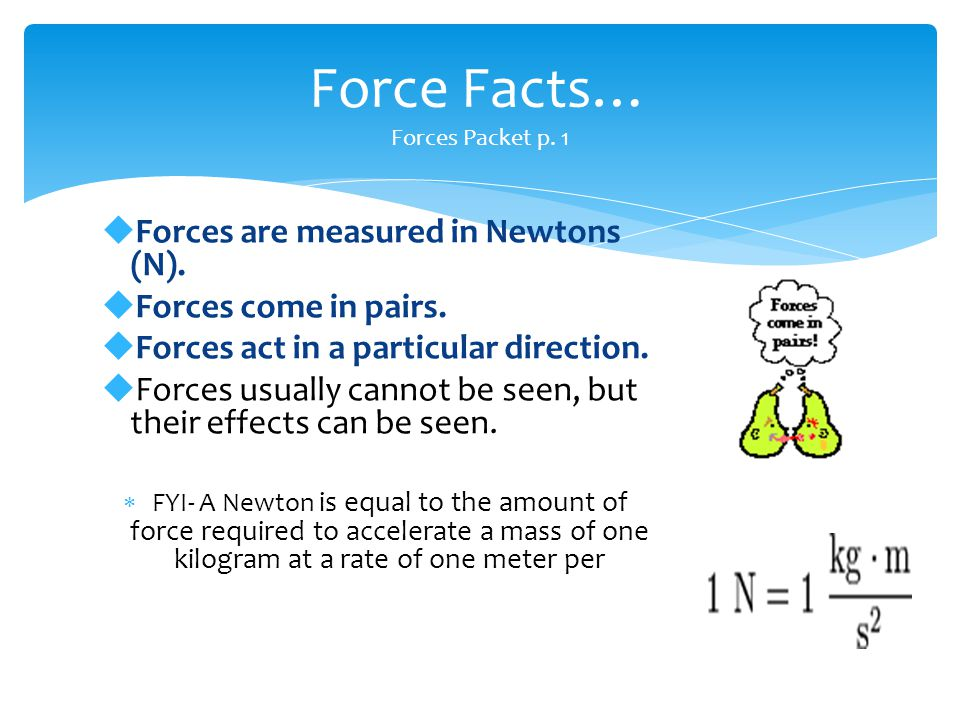 Force Facts… Forces Packet p. 1