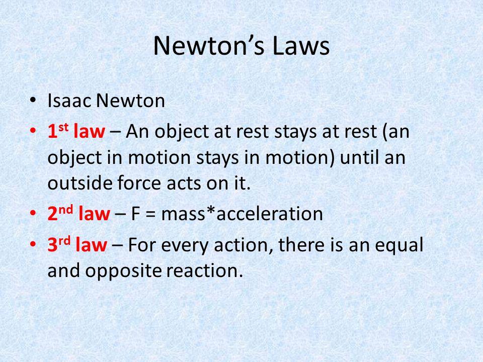 Newton's Laws Isaac Newton