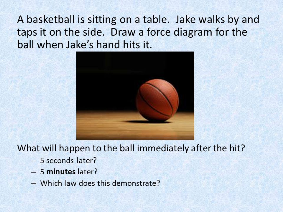 A basketball is sitting on a table