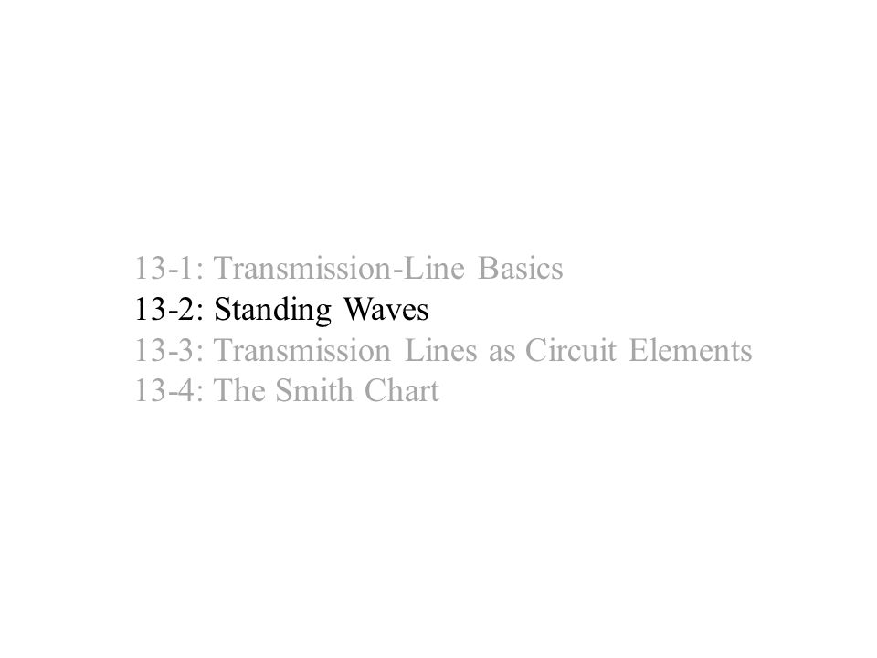 13-1: Transmission-Line Basics