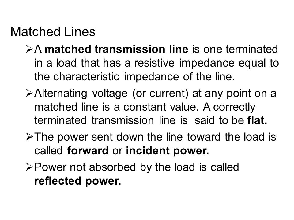 Matched Lines
