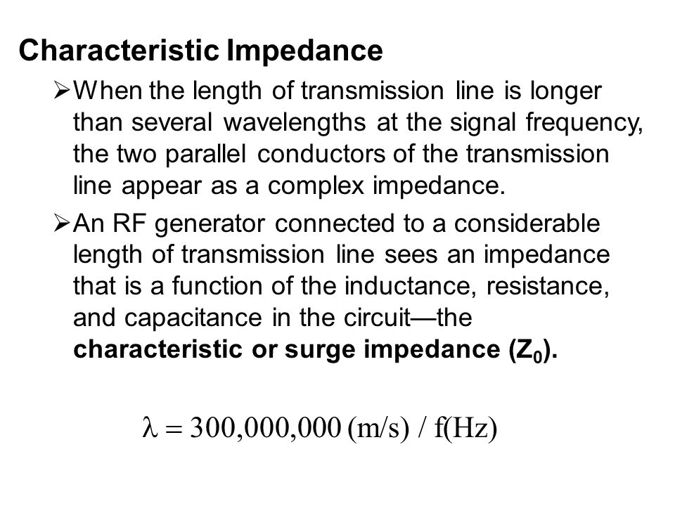 Characteristic Impedance