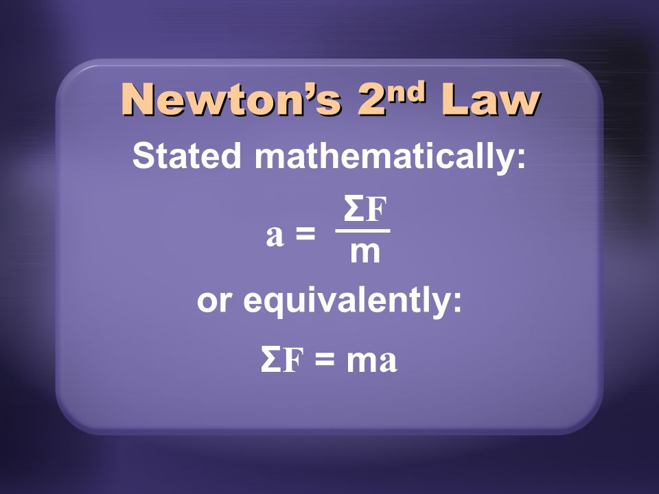 Stated mathematically: