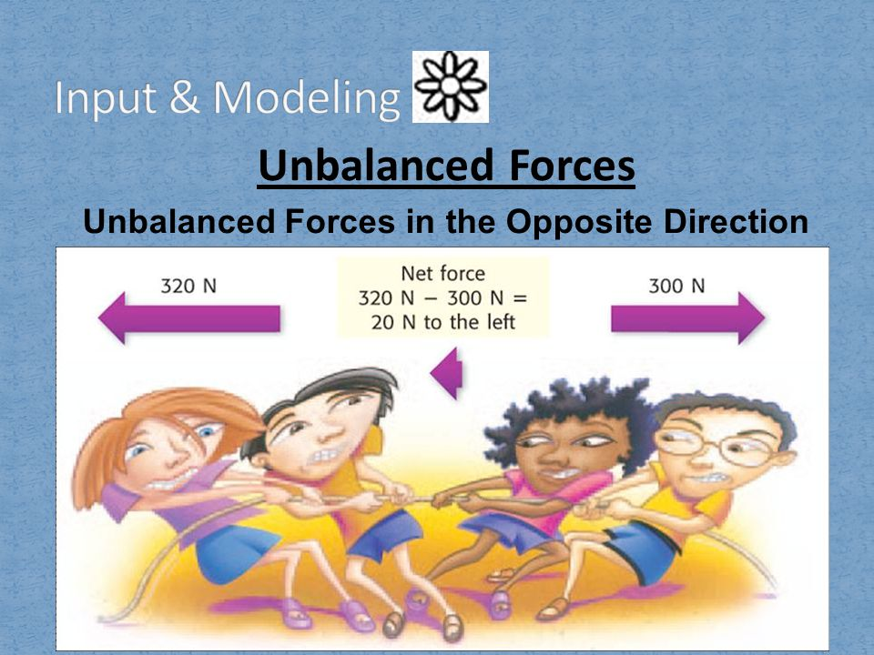 Unbalanced Forces in the Opposite Direction