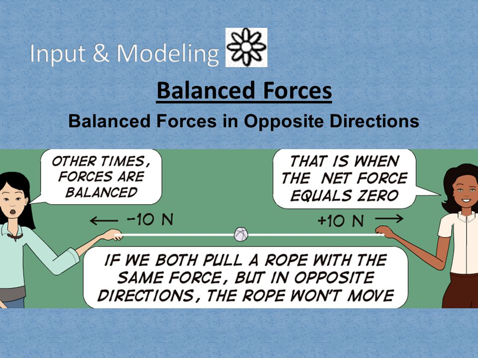 Balanced Forces in Opposite Directions