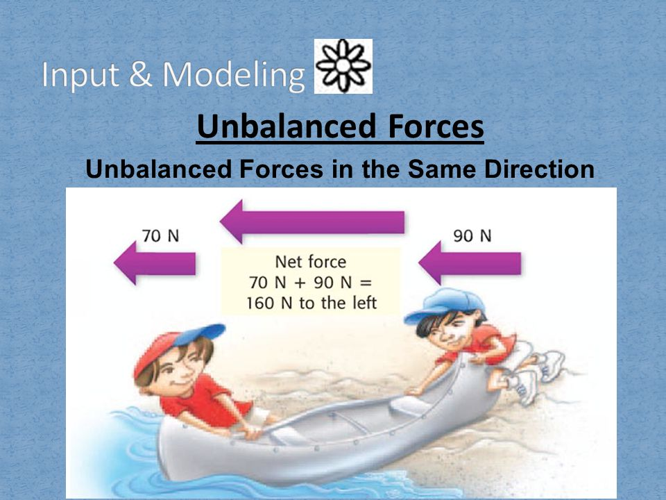 Unbalanced Forces in the Same Direction
