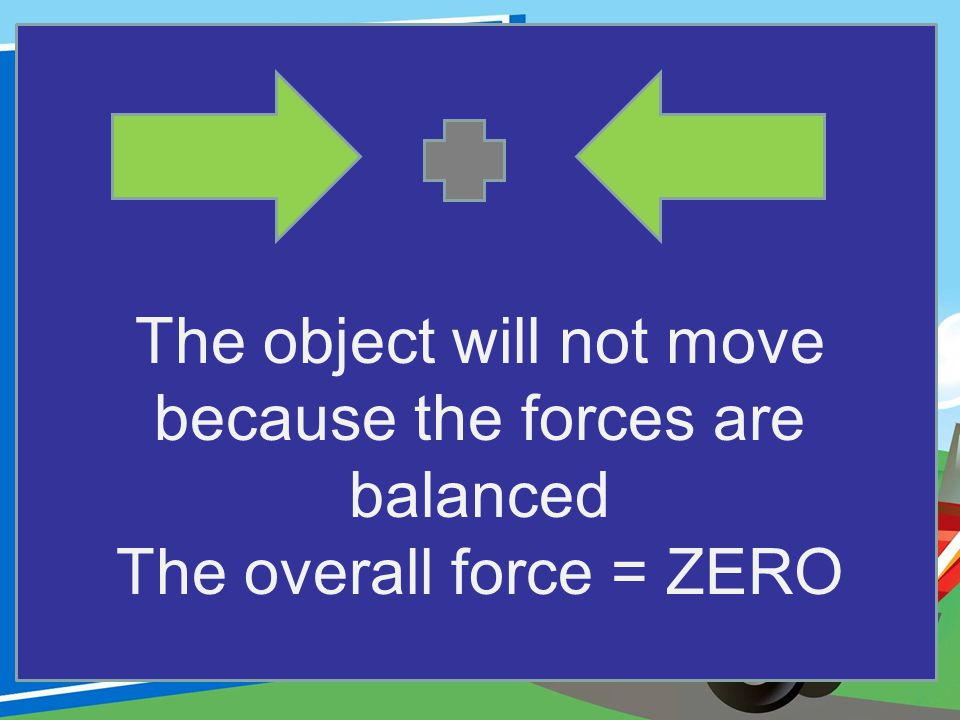 The object will not move because the forces are balanced