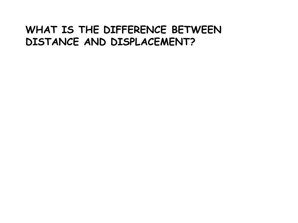 WHAT IS THE DIFFERENCE BETWEEN DISTANCE AND DISPLACEMENT